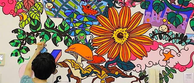 元気の種を絵の具で咲かす